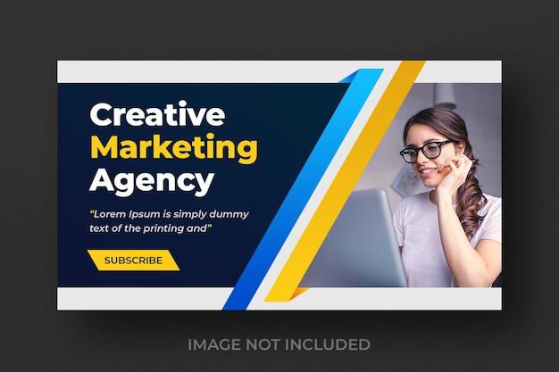 Miniature de vidéo youtube pour une entreprise de marketing numérique créative