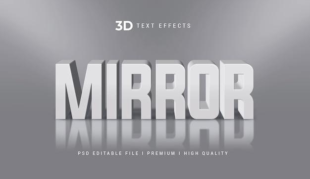 Miroir modèle d'effet de style de texte 3d