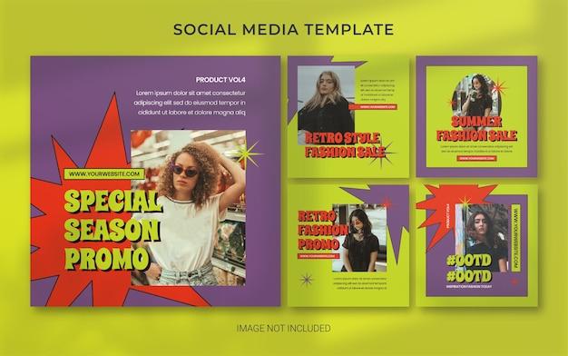 Mise en page de la bannière de publication des médias sociaux