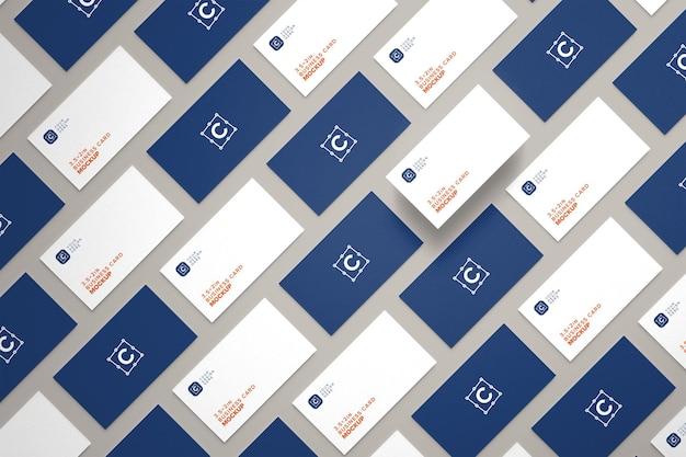 Mise en page de maquettes de cartes de visite pour l'identité de marque