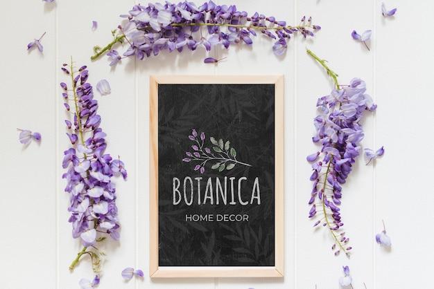 Mise à plat de belles fleurs lilas
