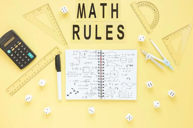 Mise à plat des dés avec cahier et règles différentes