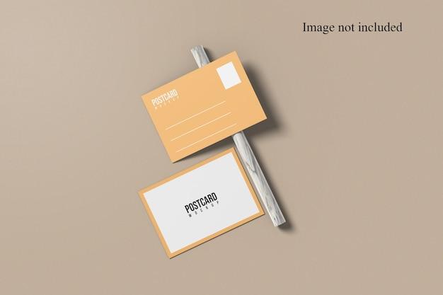 Mise à plat de la maquette de carte postale