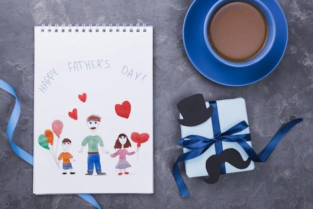 Mise à plat de la maquette du concept de la fête des pères