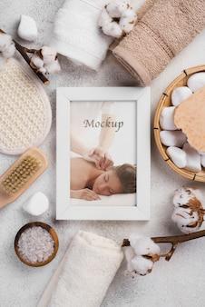 Mise à plat de la maquette du concept de spa