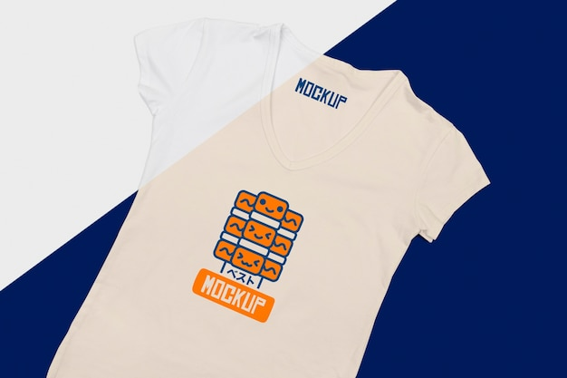 Mise à plat de la maquette du concept de t-shirt