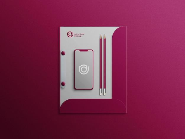 Mobile sur porte-lettre fichier psd maquette