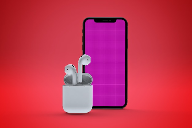 Mobiles music app mockup
