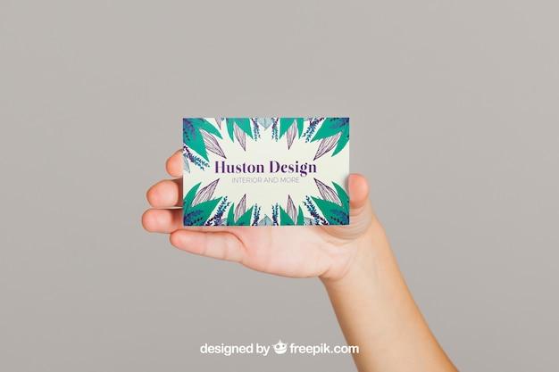 Mockup concept of business card presentation