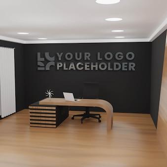 Mockup logo de bureau