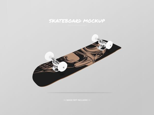 Mockup skateboard bottom side - floating