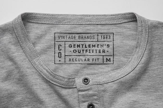 Mockupper top view mock ups étiquette étiquette de chemise