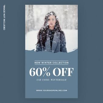 Mode hiver, annonces d'histoires instagram