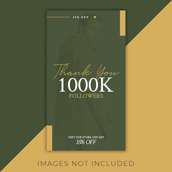 Mode instagram followers celebration 1000k remise