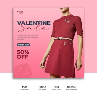 Mode instagram médias sociaux valentine girl red