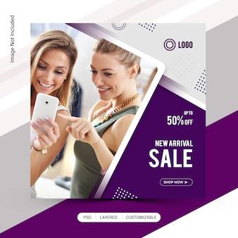 Mode de vente instagram post design