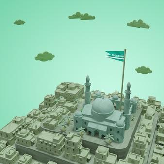 Modèle 3d miniature des villes