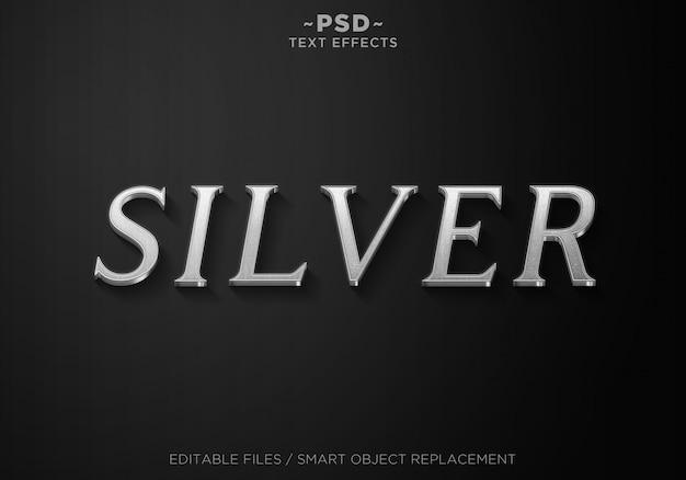 Modèle 3d silver style 3 effects text
