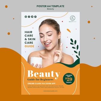 Modèle a4 d'affiche de guide de beauté
