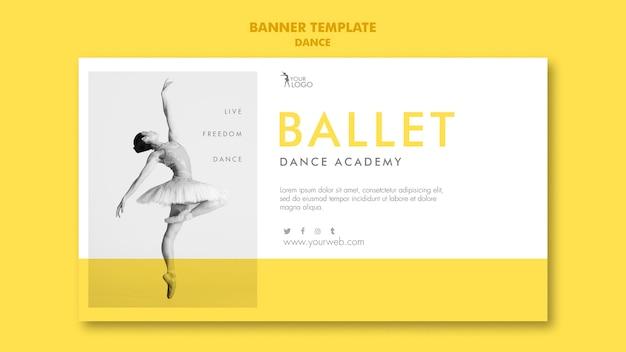 Modèle d'académie de danse de bannière