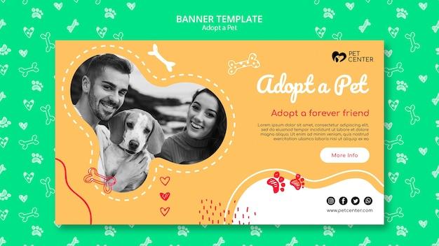 Modèle avec adopter un style de bannière pour animaux de compagnie