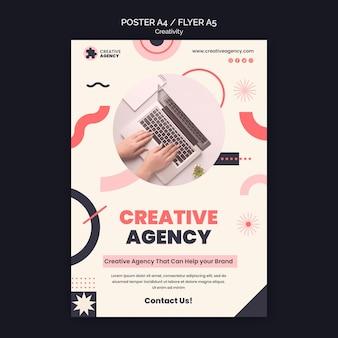 Modèle d'affiche d'agence de créativité