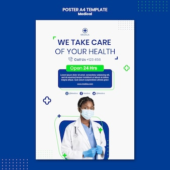 Modèle d'affiche d'aide aux soins de santé