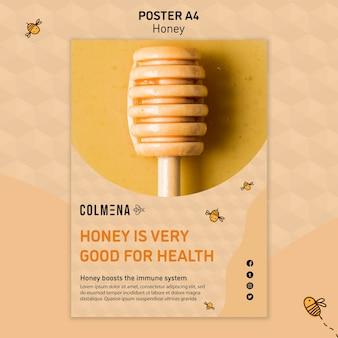 Modèle d'affiche annonce de magasin de miel