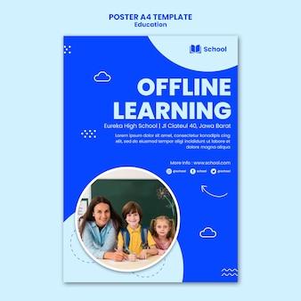 Modèle d'affiche d'apprentissage hors ligne