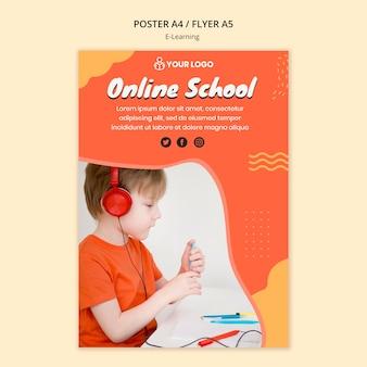 Modèle D'affiche D'apprentissage En Ligne Psd gratuit