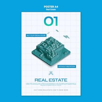 Modèle d'affiche d'architecture immobilière
