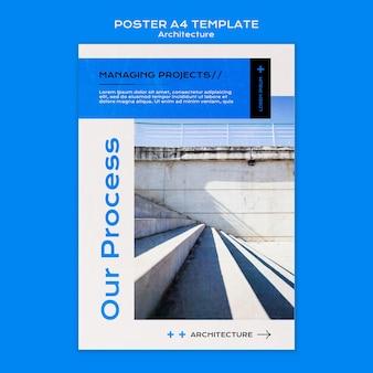 Modèle d'affiche d'architecture