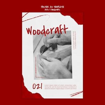 Modèle d'affiche d'art et d'artisanat
