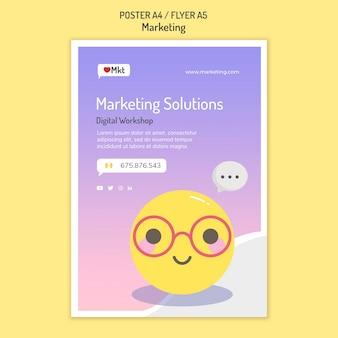 Modèle d'affiche d'atelier marketing