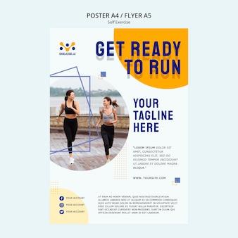 Modèle d'affiche d'auto-exercice