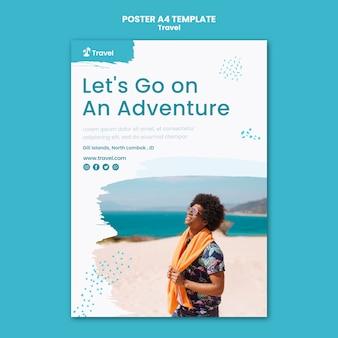 Modèle d'affiche d'aventure itinérante