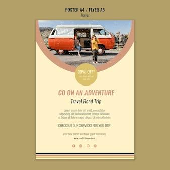 Modèle d'affiche d'aventure de voyage