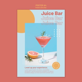 Modèle d'affiche de bar à jus
