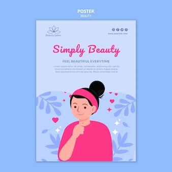Modèle d'affiche de beauté illustré