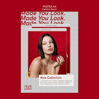 Modèle d'affiche de beauté numérique