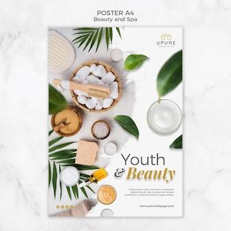 Modèle d'affiche de beauté et spa