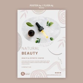 Modèle d'affiche de beauté
