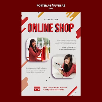 Modèle d'affiche de boutique en ligne