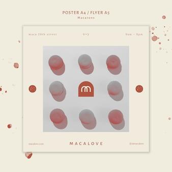 Modèle d'affiche boutique de macarons