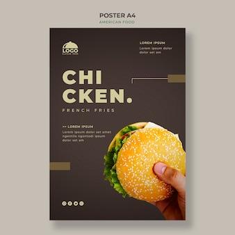 Modèle d'affiche burger