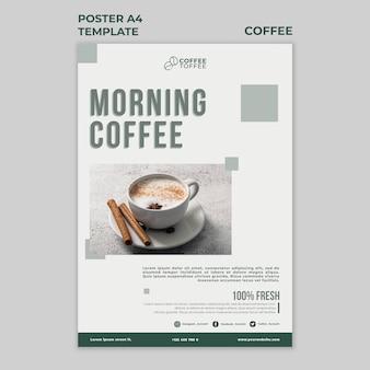 Modèle d'affiche de café du matin
