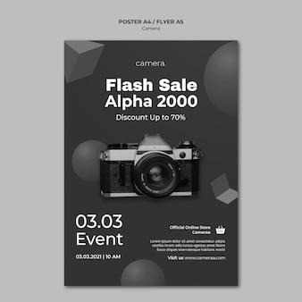 Modèle d'affiche de caméra
