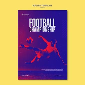 Modèle d'affiche de championnat de football