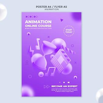 Modèle d'affiche de classe d'animation