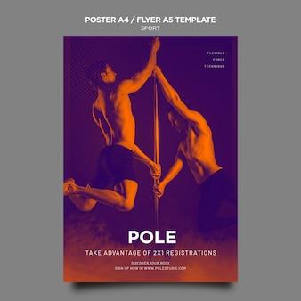Modèle d'affiche de classe de pôle